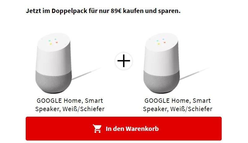 google home eins plus eins gratis