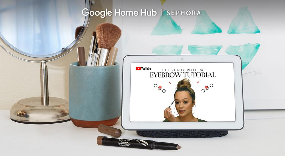 google home hub makeup