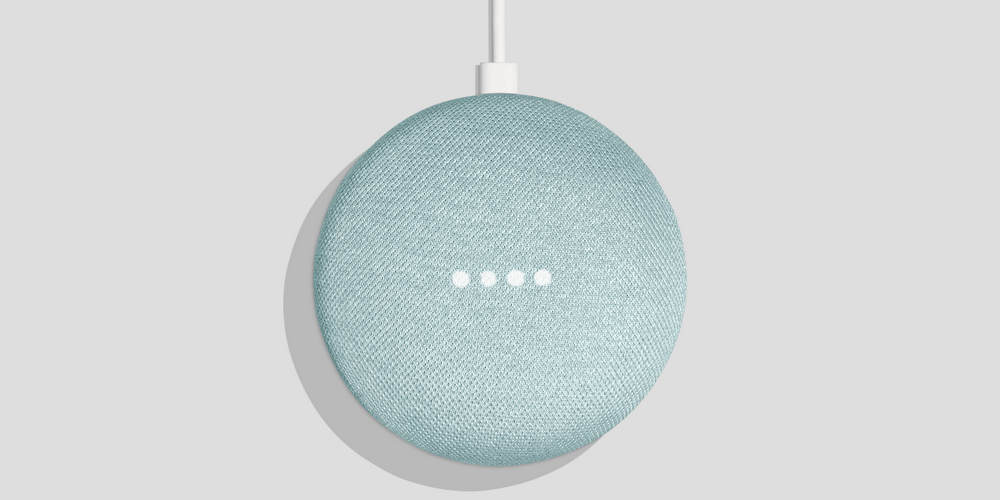 google home mini blue