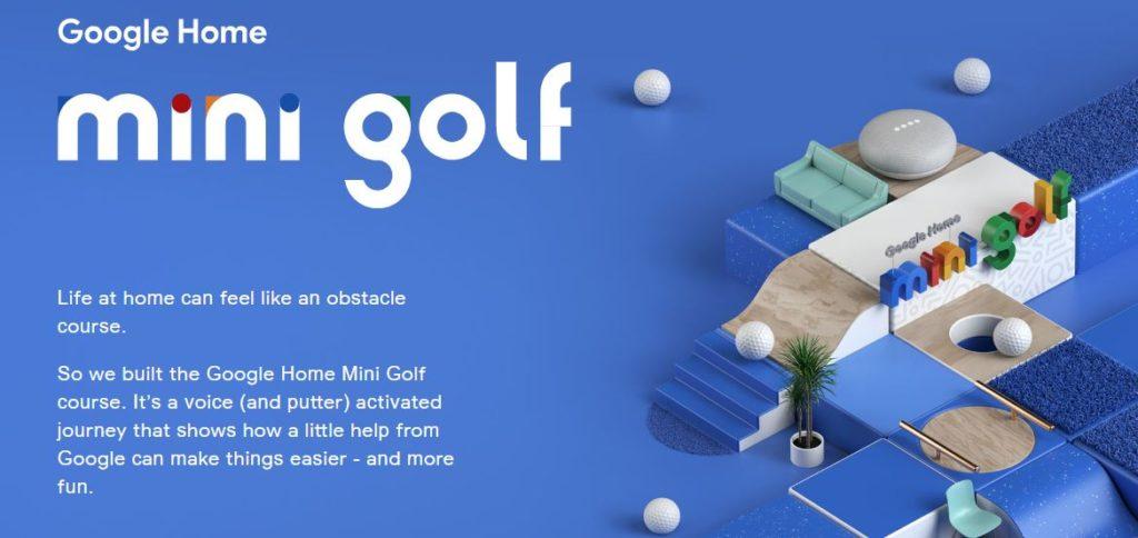 google home mini golf