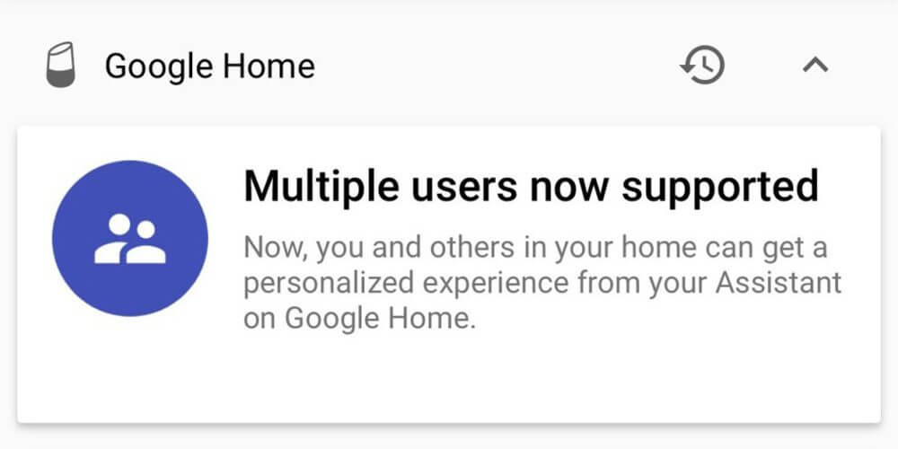 google home multiple user