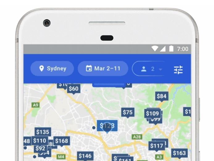google hotel finder search