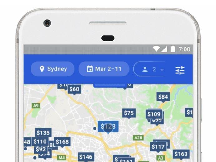 google hotel finder search