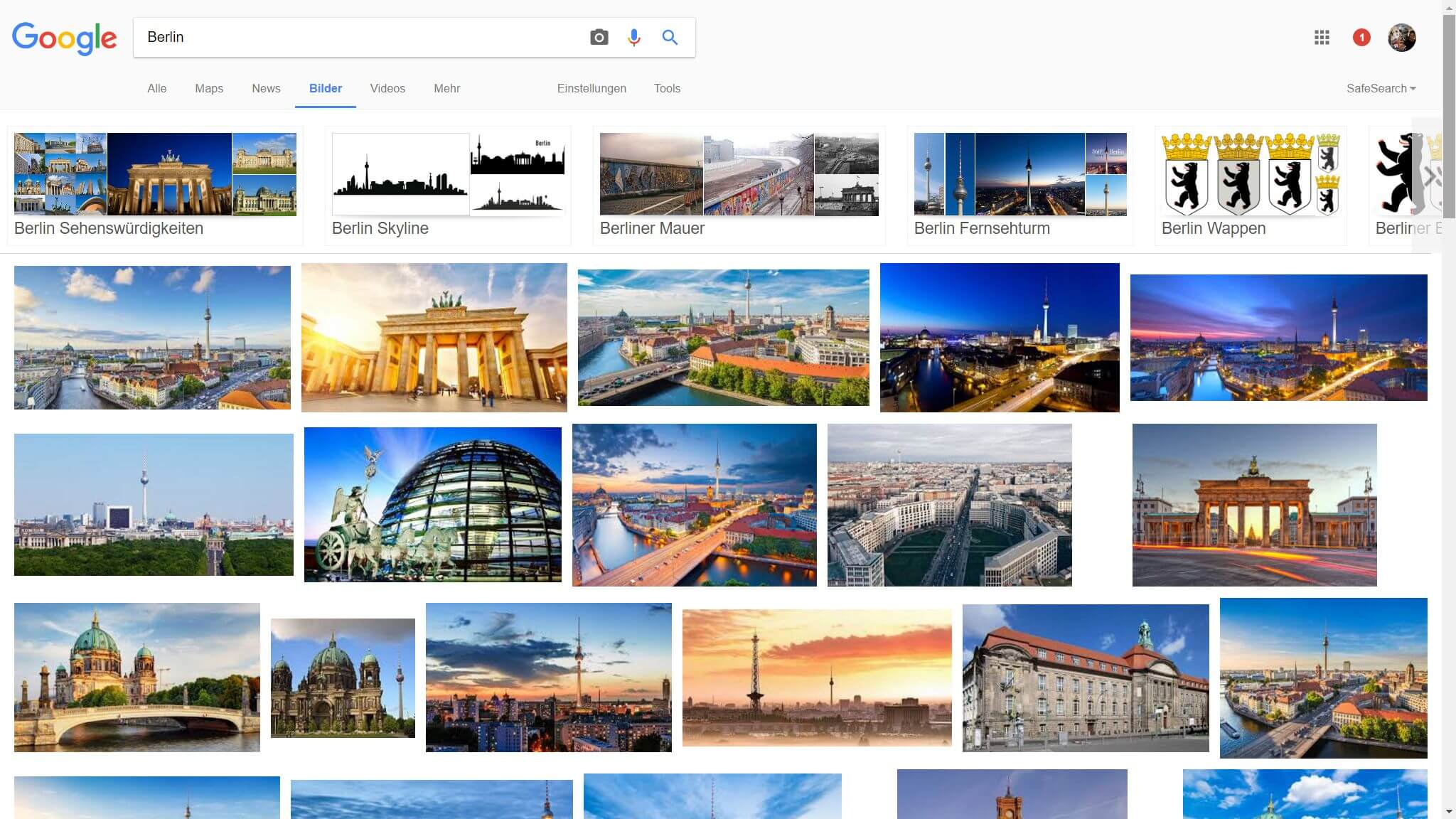 google image search current