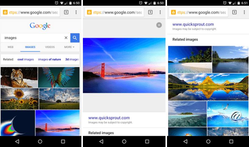 google image search mobile