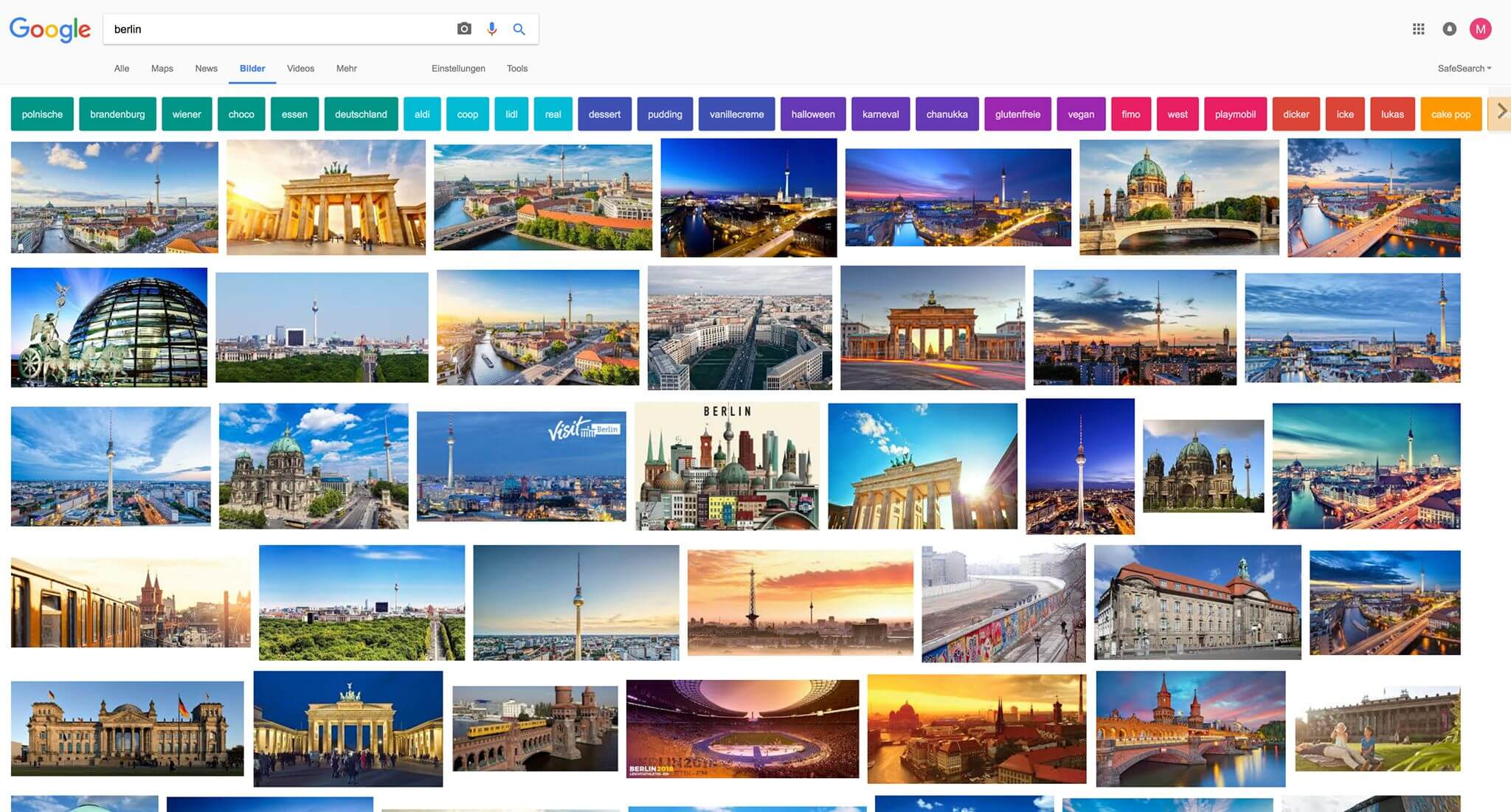 google image search test