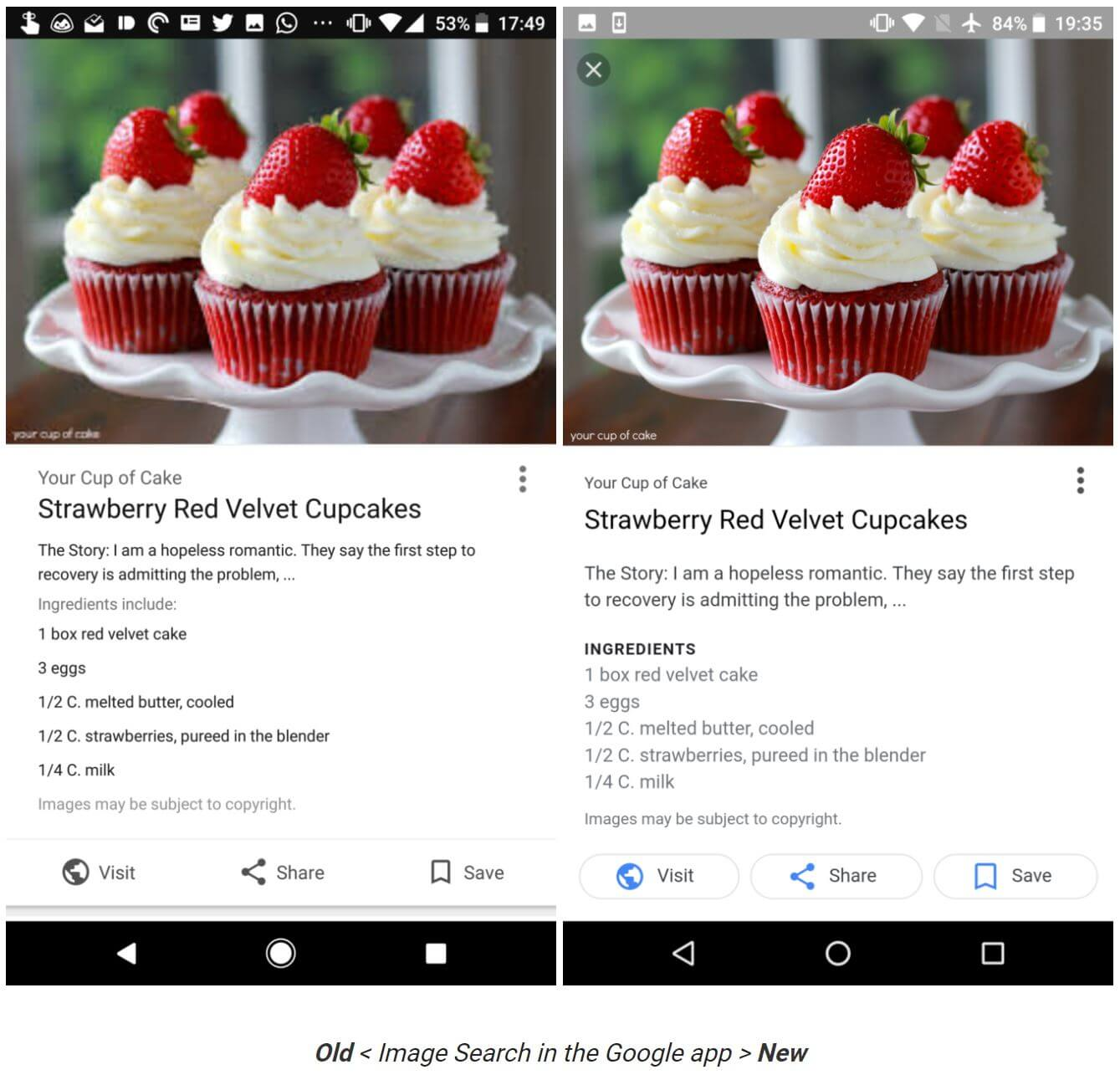 google image search update
