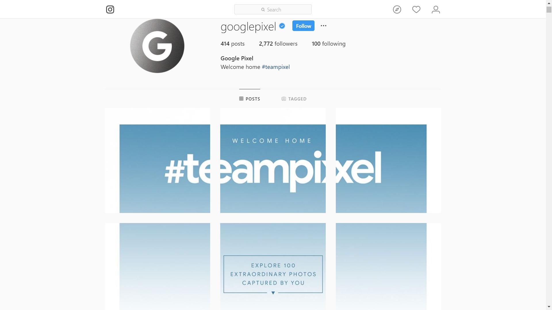 google instagram teampixel