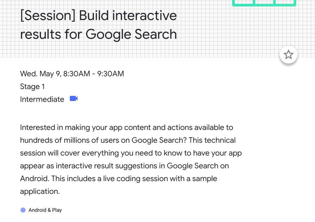 google io search
