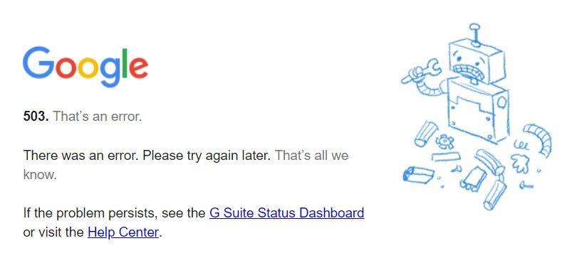 google kalender error