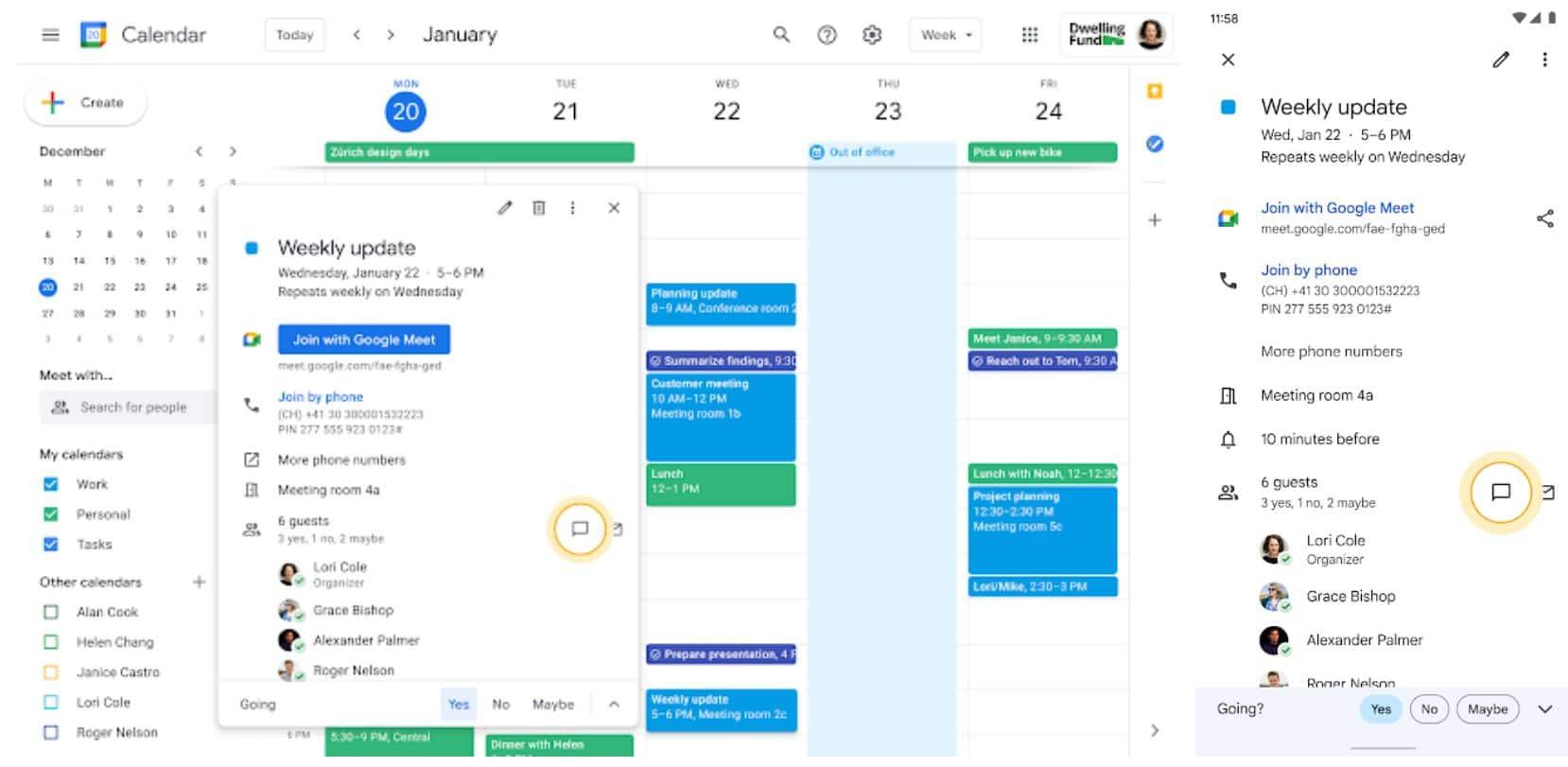 google kalender google chat