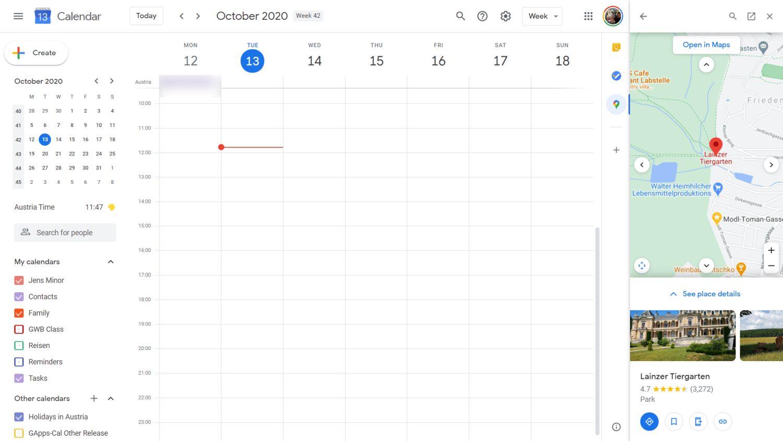 google kalender google maps