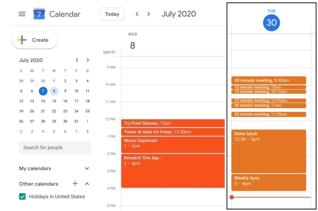 google kalender neues termin design
