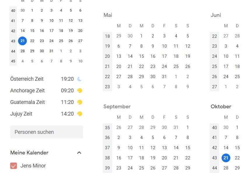 google kalender weltuhr