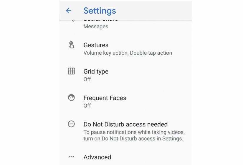 google kamera einstellungen