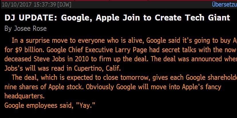 google kauft apple