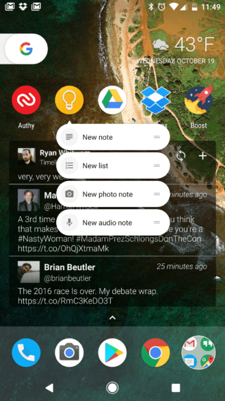 google-keep-launcher-shortcuts