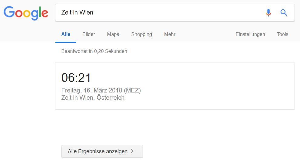 google keine ergebnisse