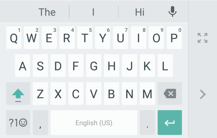 google keyboard one hand