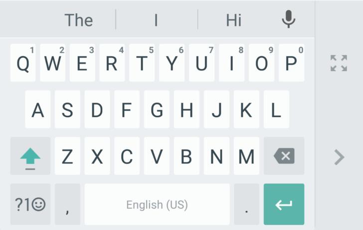google keyboard one hand