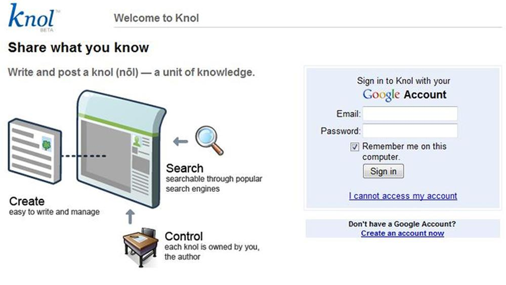 google knol login