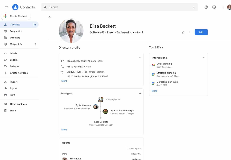 google kontakte neue kontaktansicht