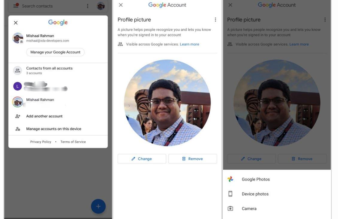 google kontakte profilbild ändern