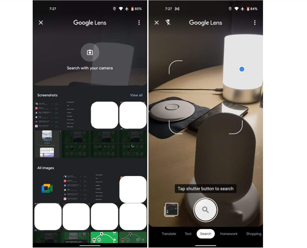 google lens new design