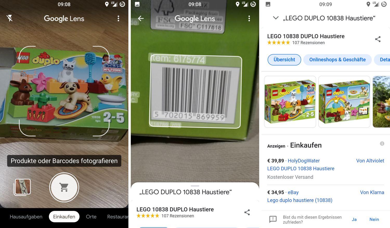 google lens produkte erkennen