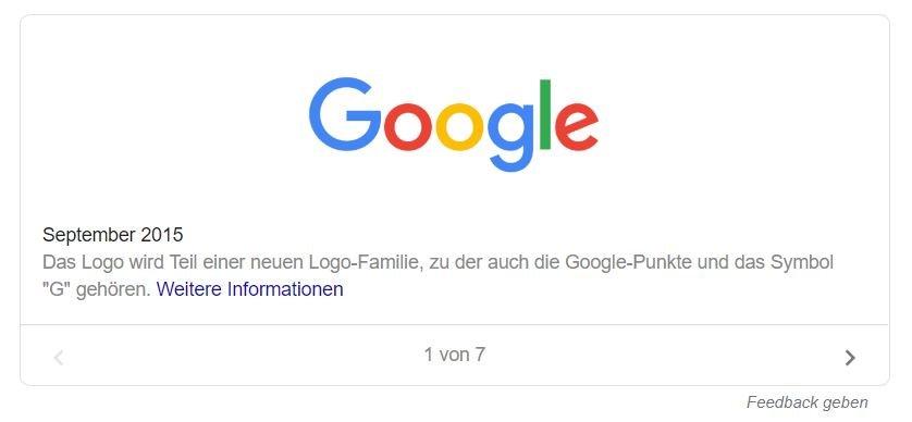 google logo geschichte