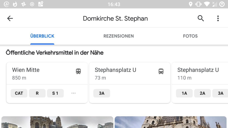 google maps öpnv