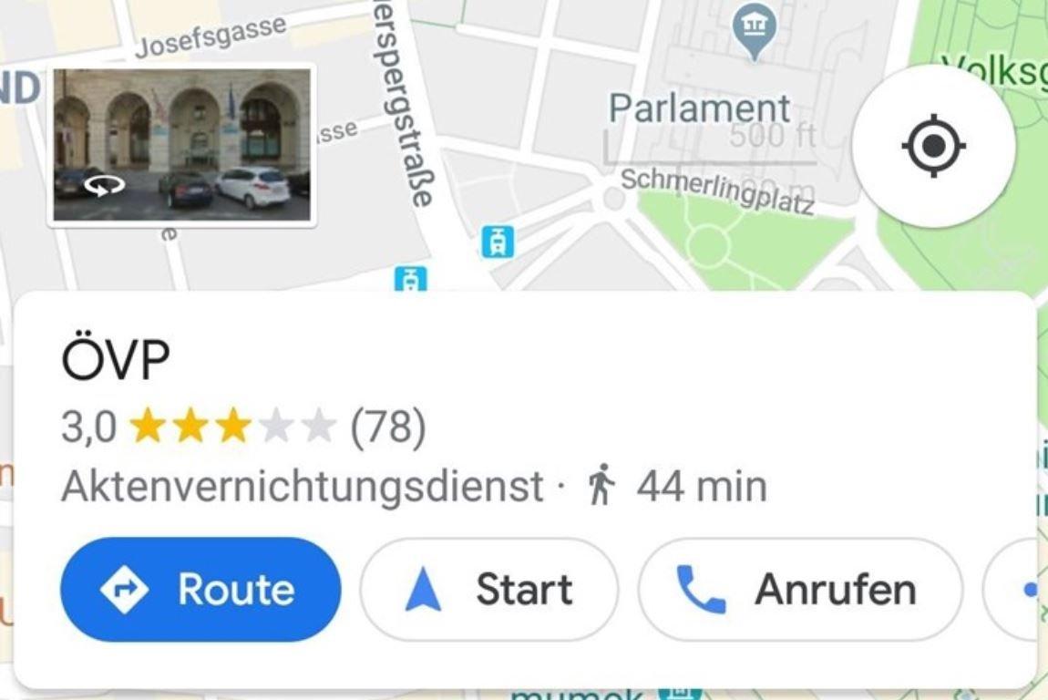 google maps övp aktenvernichtungsdienst