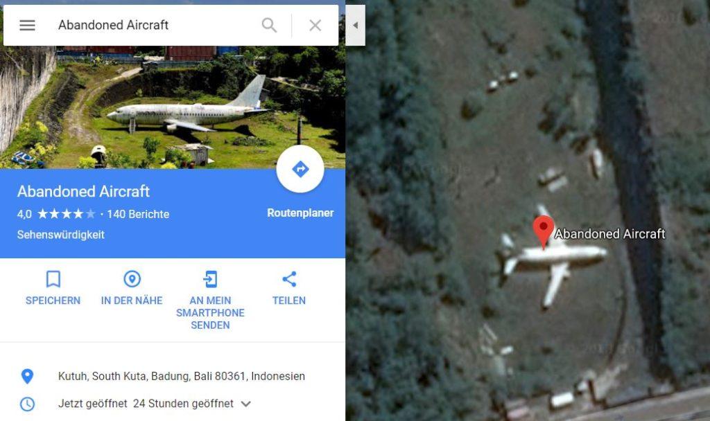 google maps abandoned aircraft