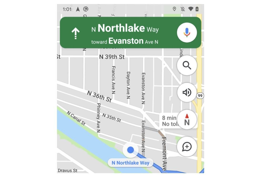 google maps android app kompass