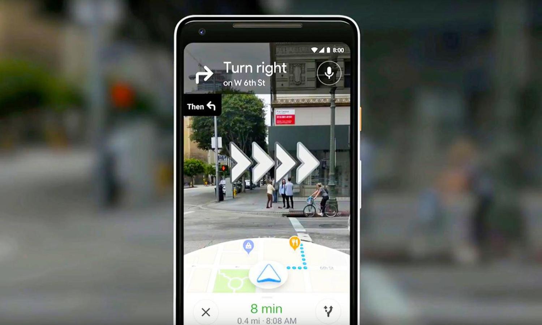 AR bei Google Maps