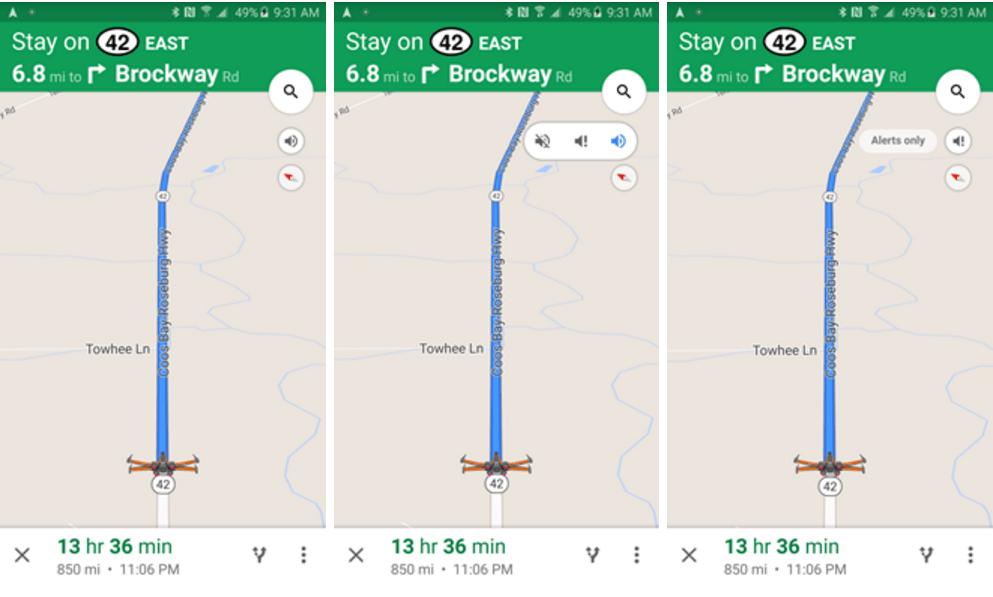 google maps audio