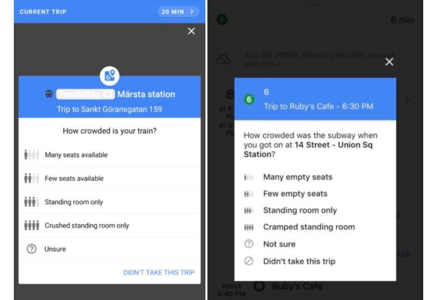 google maps auslastung oepnv