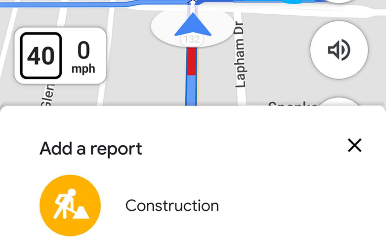 google maps baustelle warnung