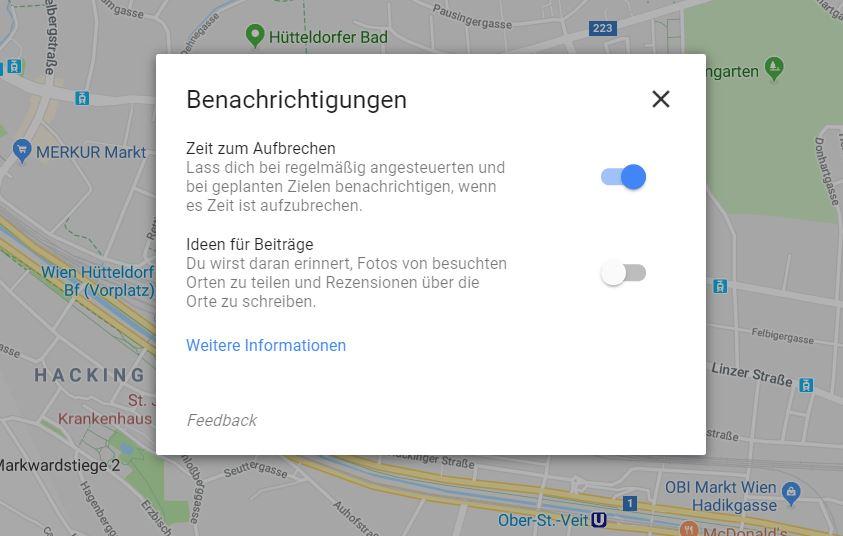 google maps benachrichtigungen