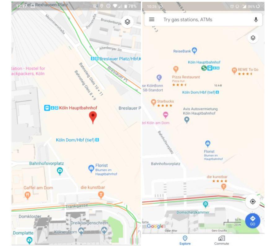 google maps bewertungen