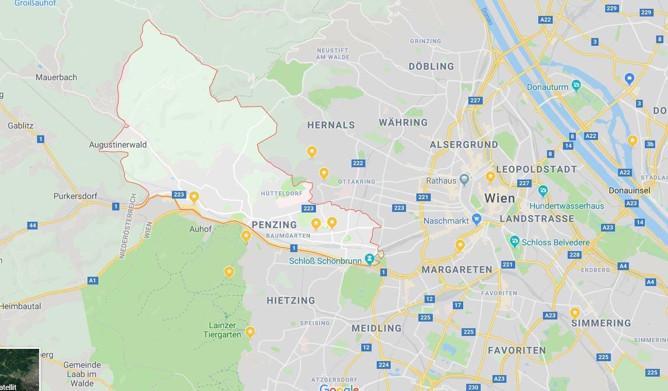 google maps bezirk