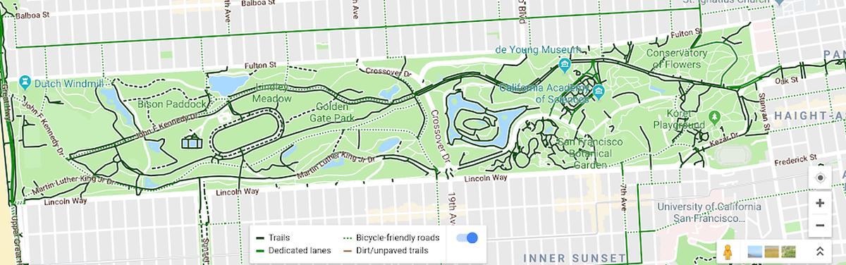 google maps biking