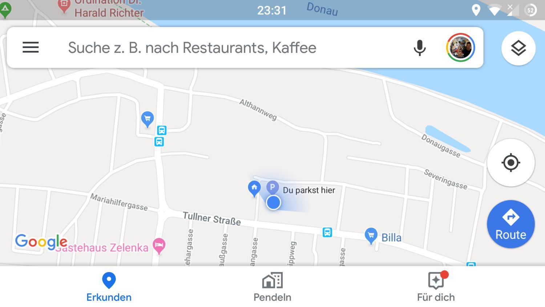 google maps blauer punkt