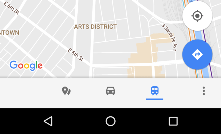 google maps bottom bar