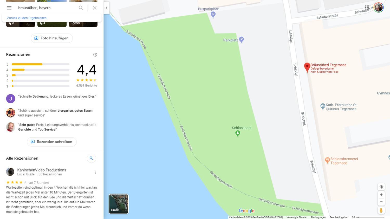 google maps braustüberl