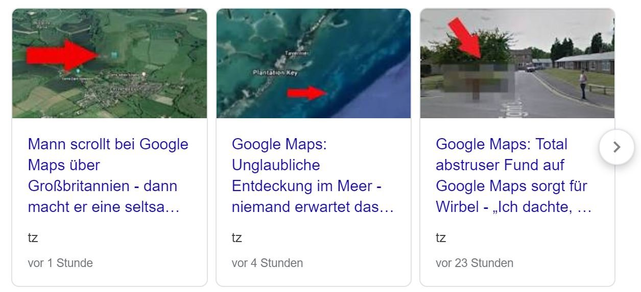 google maps clickbait