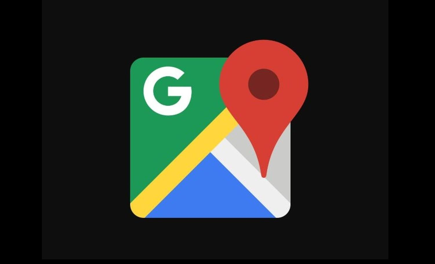 google maps dark logo