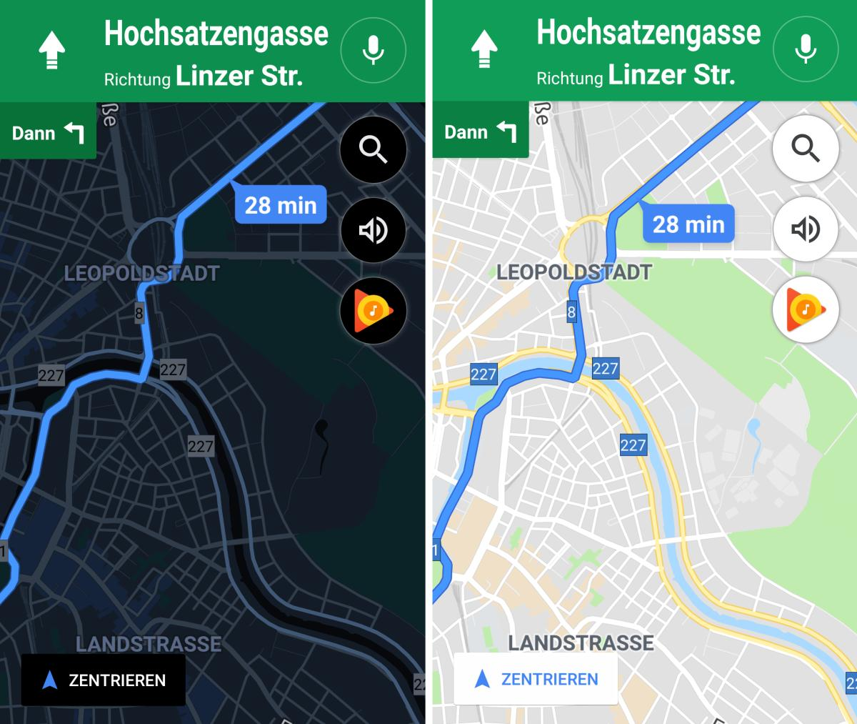 google maps dark mode