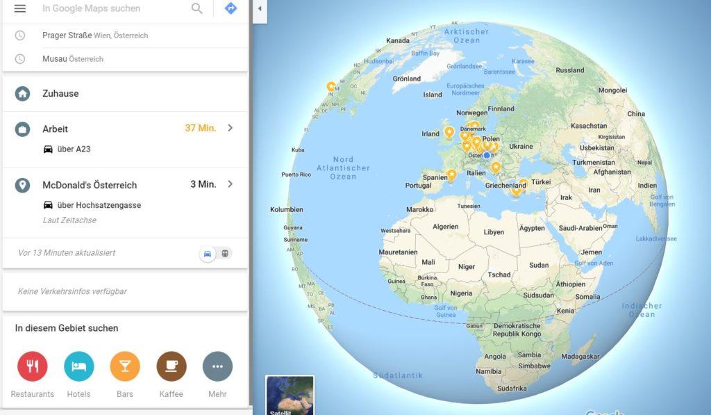Google Maps Erde