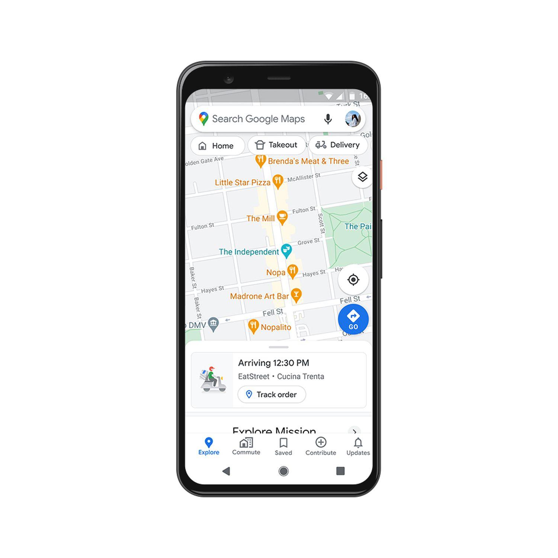 google maps essen bestellen live info